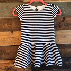 Gymboree | Navy & White Striped Dress